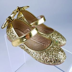 Other - Girl's Gold Glitter Dress Shoes sz 10.5